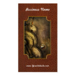 Steampunk - Toothy Business Card Template