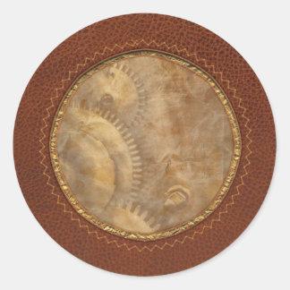 Steampunk - Toothy Classic Round Sticker