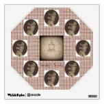 Steampunk Top Hat & Clock Wall Stickers