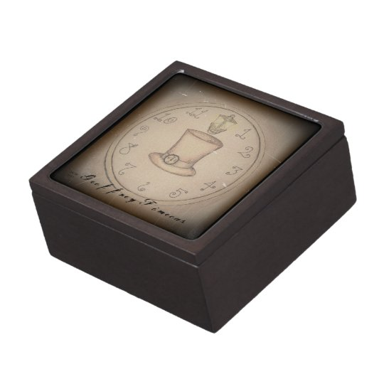 Steampunk Top Hat Keepsake Box