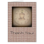 Steampunk Tophat Thank You, Customizable Greeting Card