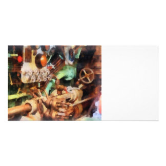 Steampunk - Torpedo Controls Photo Card Template