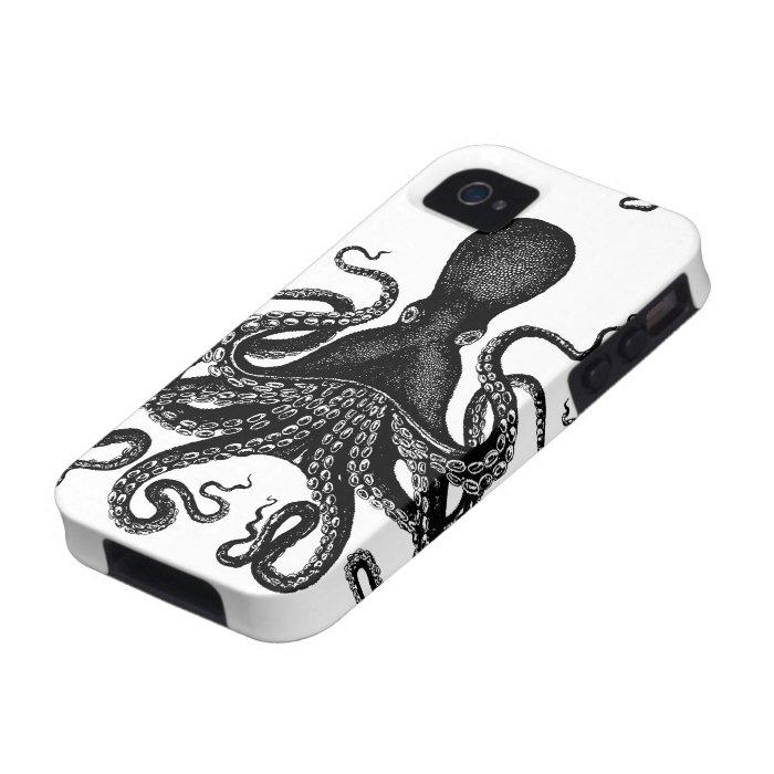 Steampunk Tough Kraken - Victorian Octopus iPhone 4 Cover