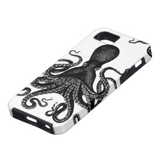 Steampunk Tough Kraken - Victorian Octopus iPhone 5 Cases