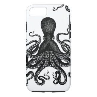 Steampunk Tough Kraken - Victorian Octopus iPhone 8/7 Case