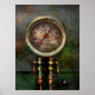 Steampunk - Train - Brake cylinder pressure Poster