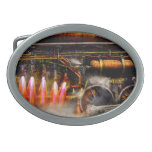 Steampunk - Train - The super express Oval Belt Buckles