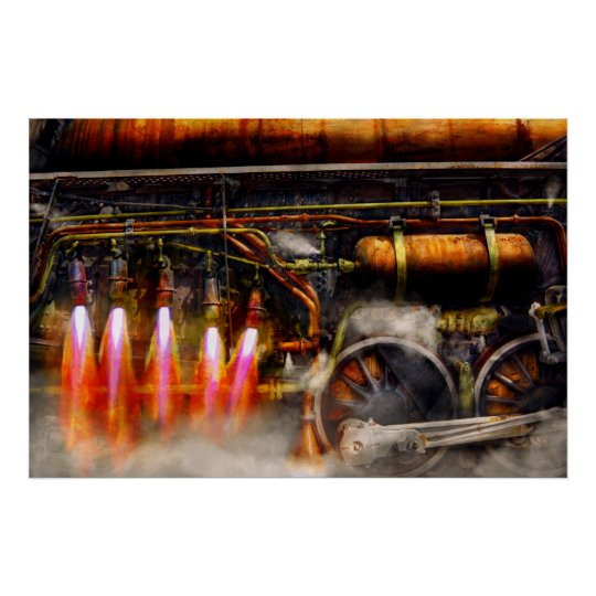 Steampunk - Train - The super express Poster