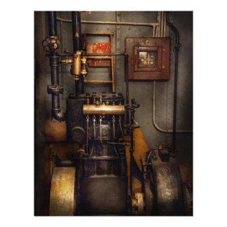 """Steampunk - trasero en la sala de máquinas folleto 8.5"""" x 11"""""""