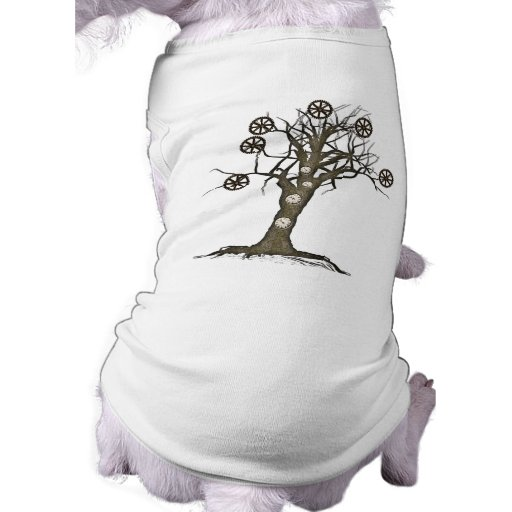 steampunk tree dog t shirt