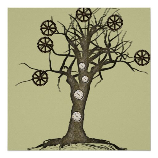 steampunk tree poster