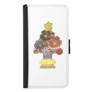 Steampunk Tree Samsung Galaxy S5 Wallet Case