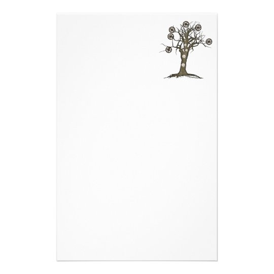 steampunk tree stationery