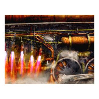Steampunk - tren - el estupendo expresa tarjetas informativas