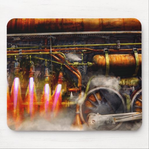 Steampunk - tren - el estupendo expresa tapetes de ratón