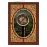 Steampunk - tren - presión del cilindro de freno tarjeta de felicitación