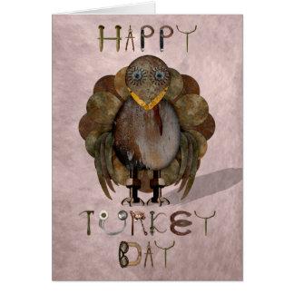 Steampunk Turkey Thanksgiving Greeting Card