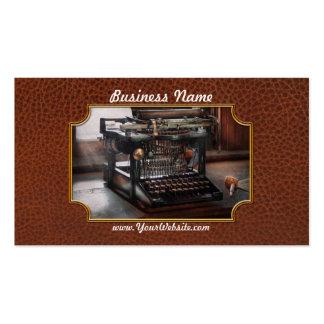 Steampunk - Typewriter - A really old typewriter Business Card