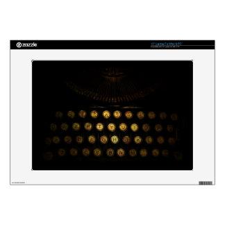 """Steampunk Typewriter Skin Decals For 15"""" Laptops"""