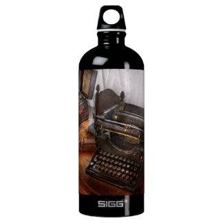 Steampunk - Typewriter - The secret messenger Aluminum Water Bottle