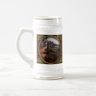 Steampunk - Typewriter - The secret messenger Beer Stein