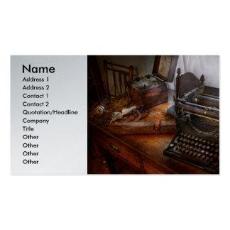 Steampunk - Typewriter - The secret messenger Business Card