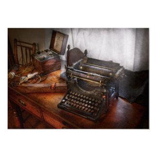 Steampunk - Typewriter - The secret messenger Card