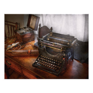 Steampunk - Typewriter - The secret messenger Full Color Flyer