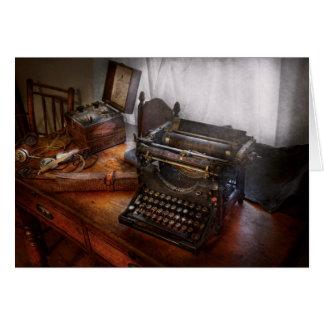 Steampunk - Typewriter - The secret messenger Greeting Card