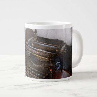Steampunk - Typewriter - The secret messenger Large Coffee Mug