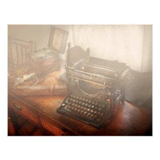 Steampunk - Typewriter - The secret messenger Letterhead