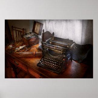 Steampunk - Typewriter - The secret messenger Poster