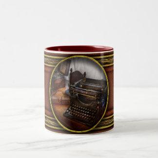 Steampunk - Typewriter - The secret messenger Two-Tone Coffee Mug