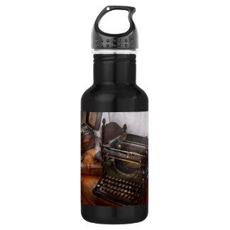 Steampunk - Typewriter - The secret messenger Water Bottle