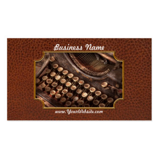 Steampunk - Typewriter - Too tuckered to type Business Card Templates