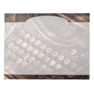Steampunk - Typewriter - Too tuckered to type Notepad