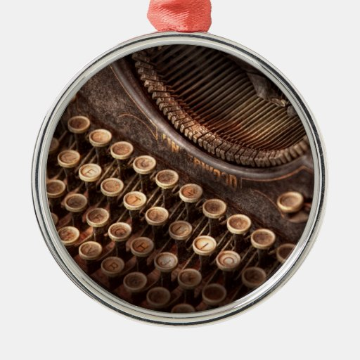 Steampunk - Typewriter - Too tuckered to type Ornaments