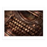 Steampunk - Typewriter - Too tuckered to type Postcard
