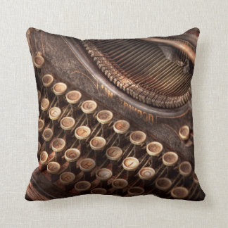 Steampunk - Typewriter - Too tuckered to type Throw Pillow
