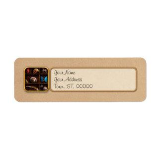 Steampunk - una caja de curiosidades etiqueta de remitente