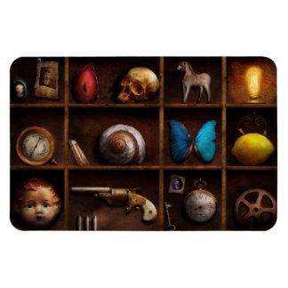 Steampunk - una caja de curiosidades iman rectangular