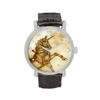 'Steampunk Unicorn -- Sketch' Watch