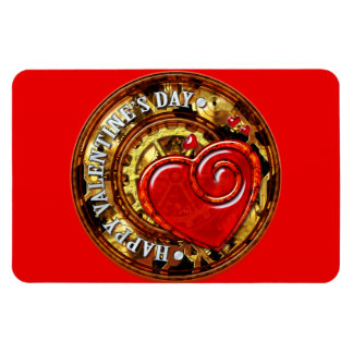 Steampunk Valentine 1 & Your Photo  Pemium Magnet