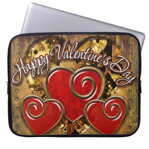 Steampunk Valentine 3 Laptop Sleeve