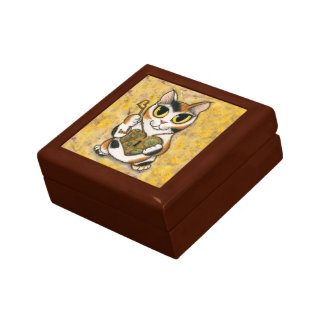 Steampunk Valentine Cat Heart Locket Key  Gift Box