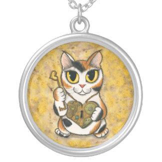 Steampunk Valentine Heart Locket Fantasy Cat Art N