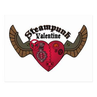 Steampunk Valentine Postcard