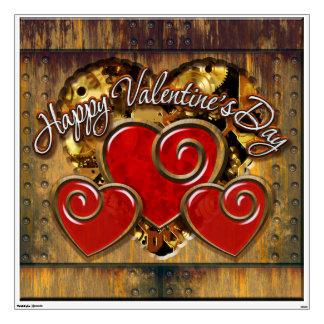 Steampunk Valentine's Day 3 Wall Decals