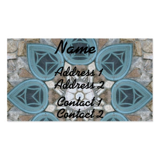 Steampunk Verdigris Window Mandala Business Card