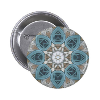 Steampunk Verdigris Window Mandala Pins